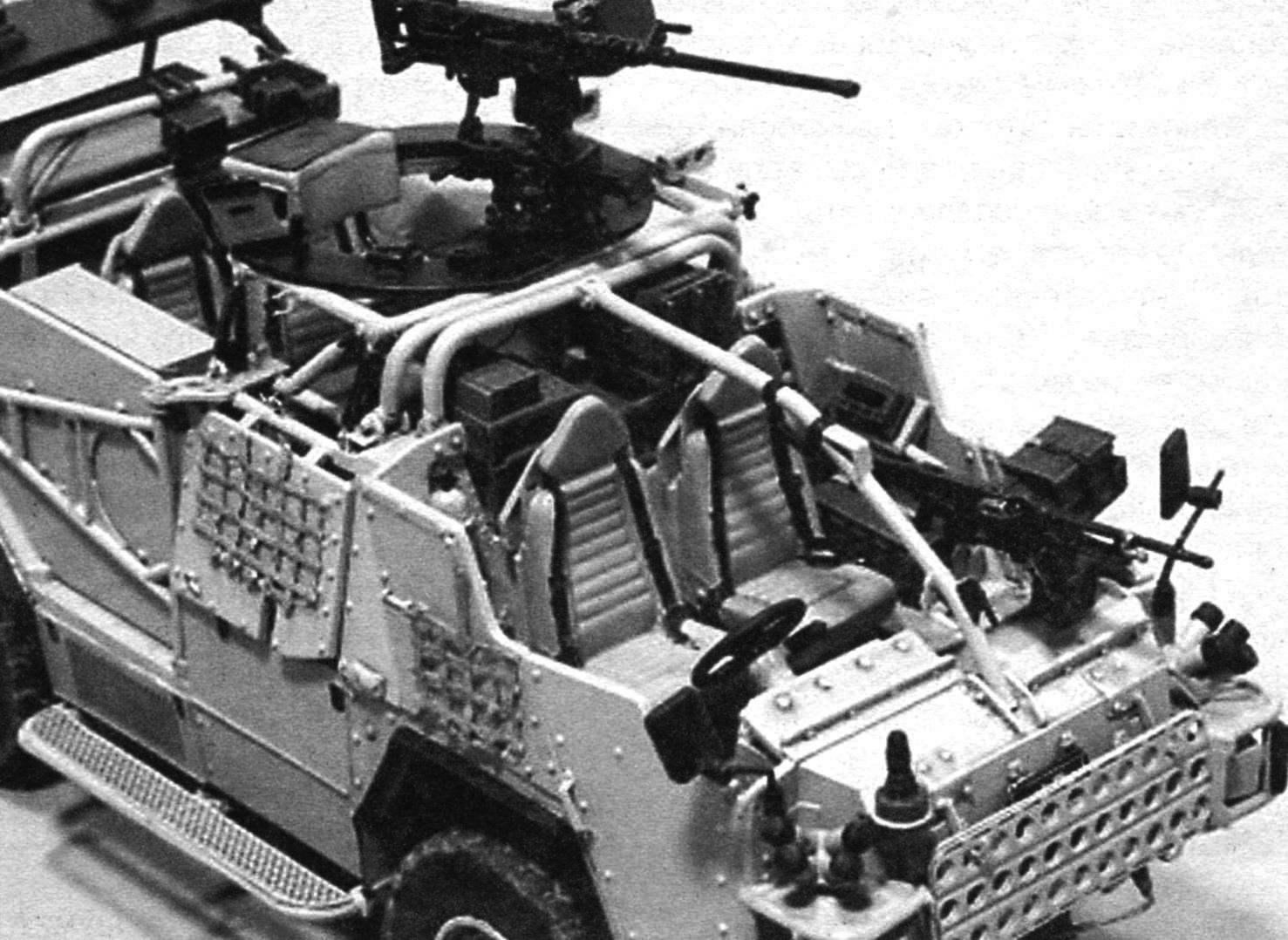 Вооружение броневика «Шакал» состоит из 7,62-мм командирского пулемёта GPMG и крупнокалиберного 12,7-мм HMG, находящеюся в кормовой части на вращающейся турели, возможна установка 40-мм гранатомёта