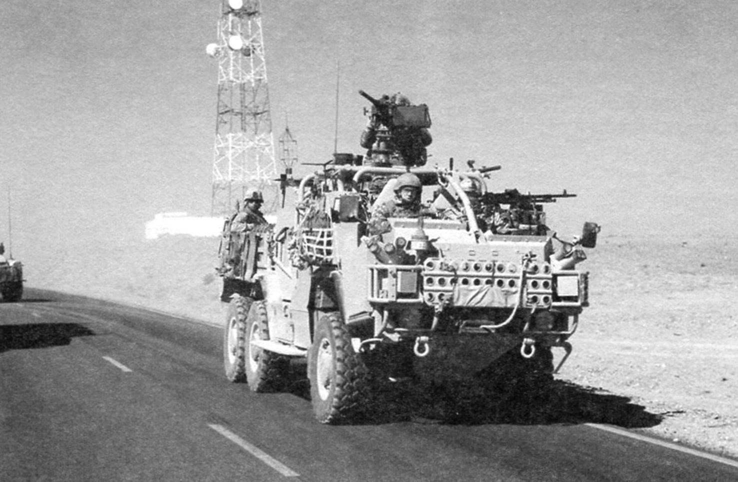 Бронеавтомобиль HTM 600 «Койот», созданный на базе НТМ 400 «Шакал». Сопровождение колонны. Афганистан, 2011 г.
