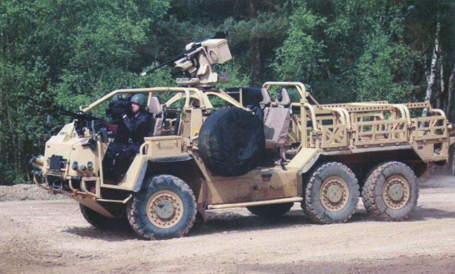 Armored vehicle Supacat Extenda 6x6 British army