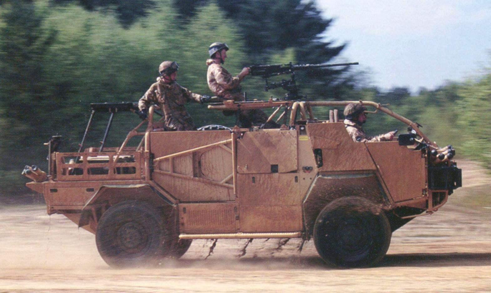 Armored patrol 400 Supacat Jackal 2A. British base