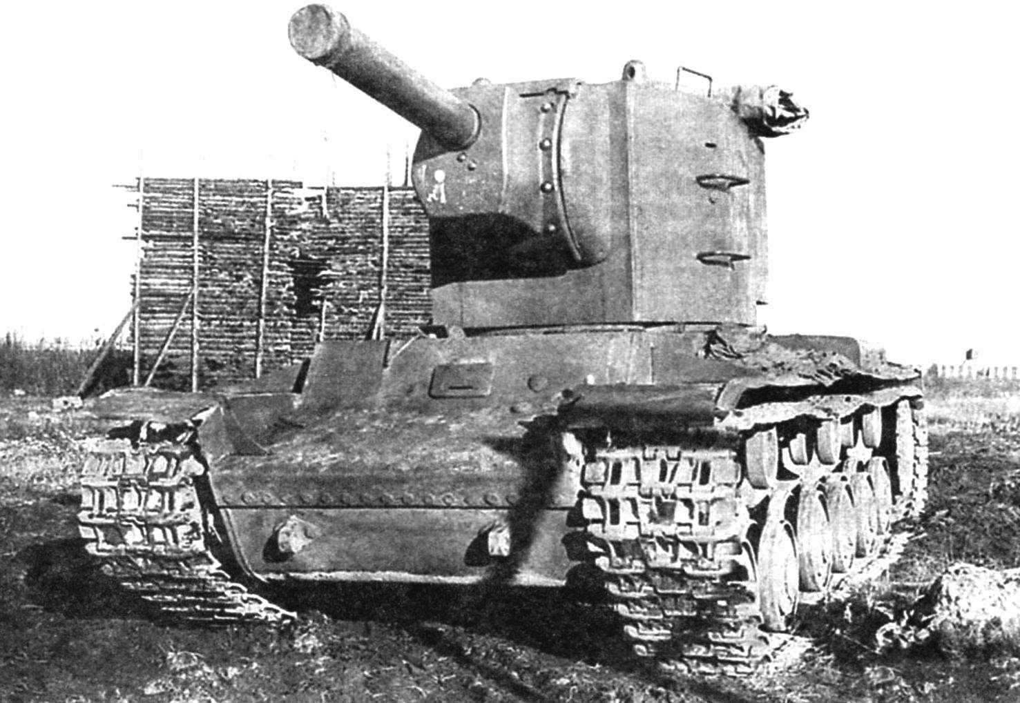 One of the first samples of the tank before testing. 1940.