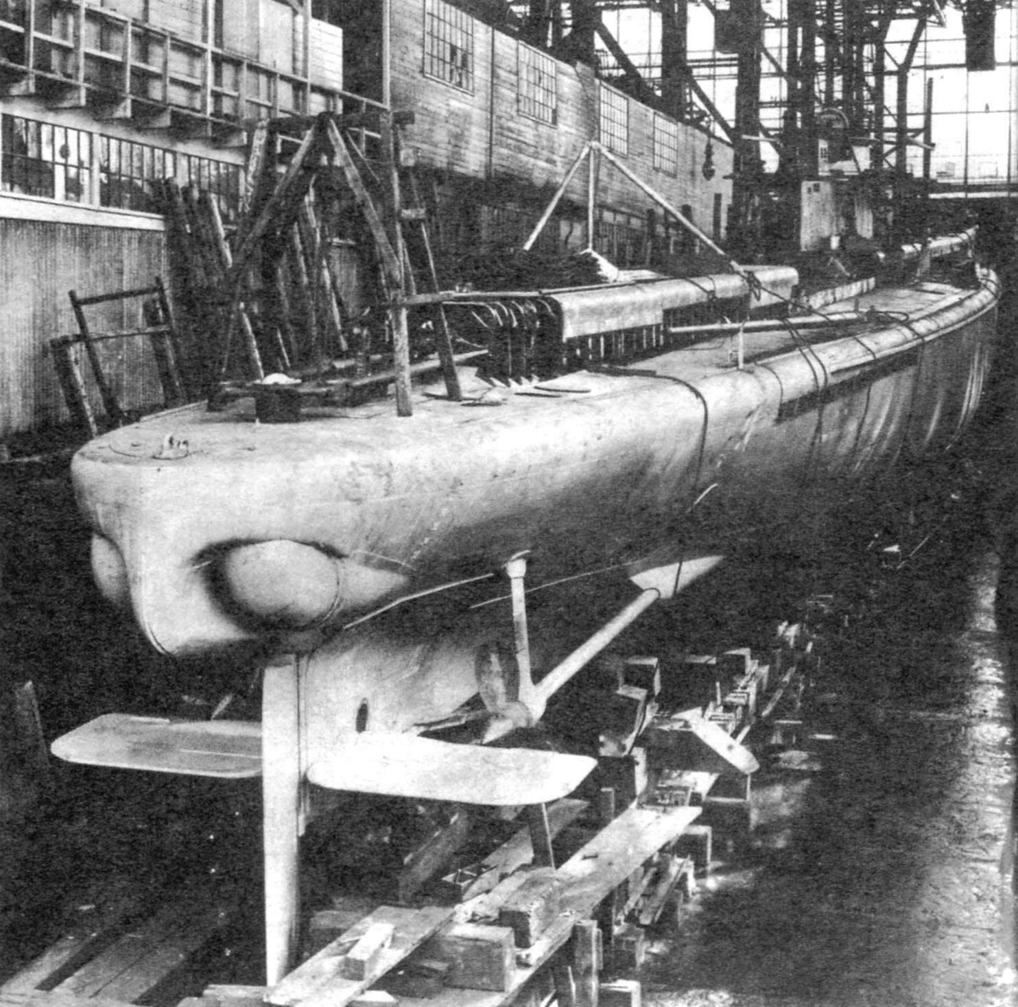 Подводная лодка «U-39» на стапеле