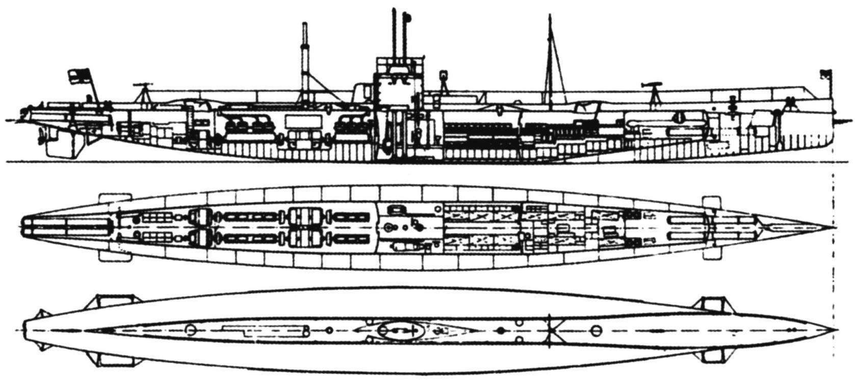 Схема подводных лодок «U-9»-«U12»