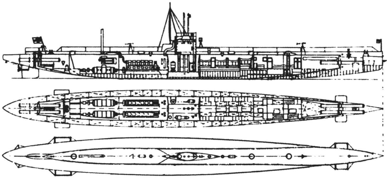 Подводная лодка «U-19» (тип «U-19», 1-я серия), Германия, 1913 г.