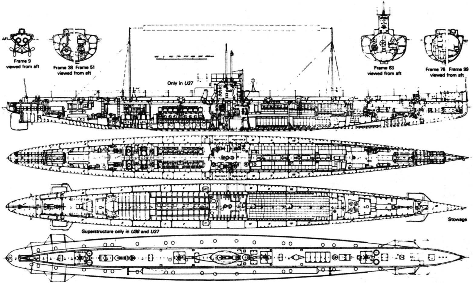 Схема подводных лодок «U-31» - «U-37»