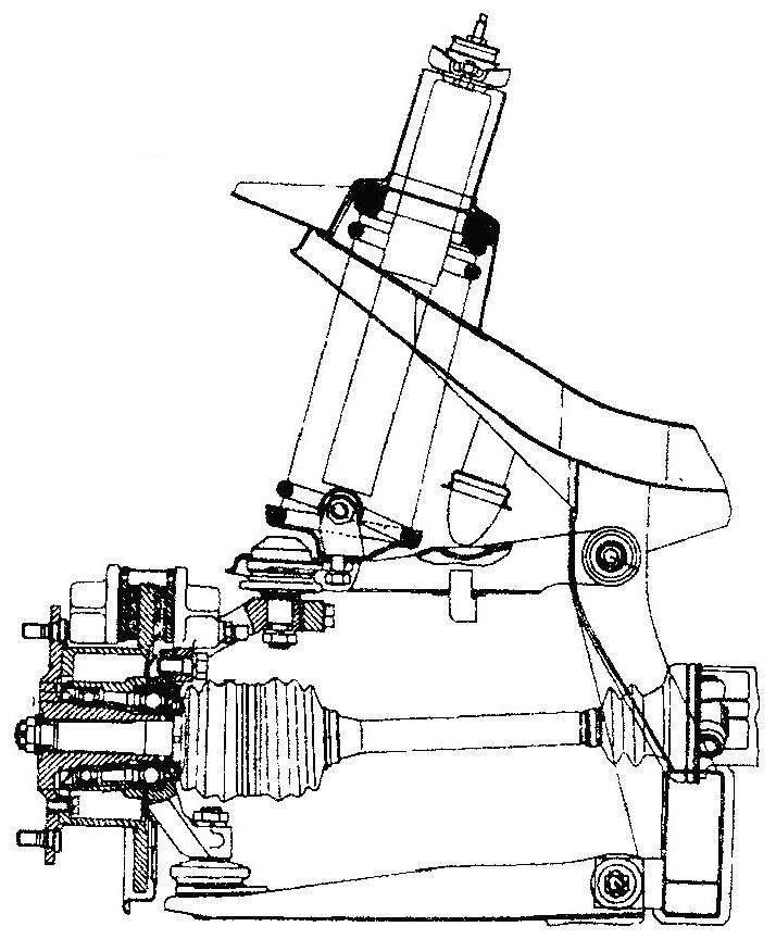 Передняя подвеска автомобиля Wartburg 1.3