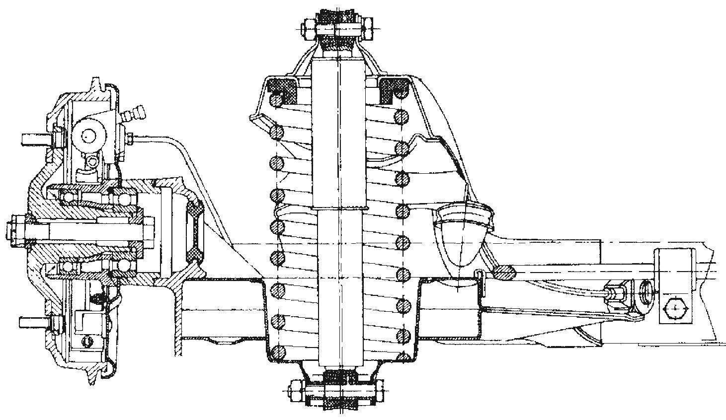 Задняя подвеска автомобиля Wartburg 1.3