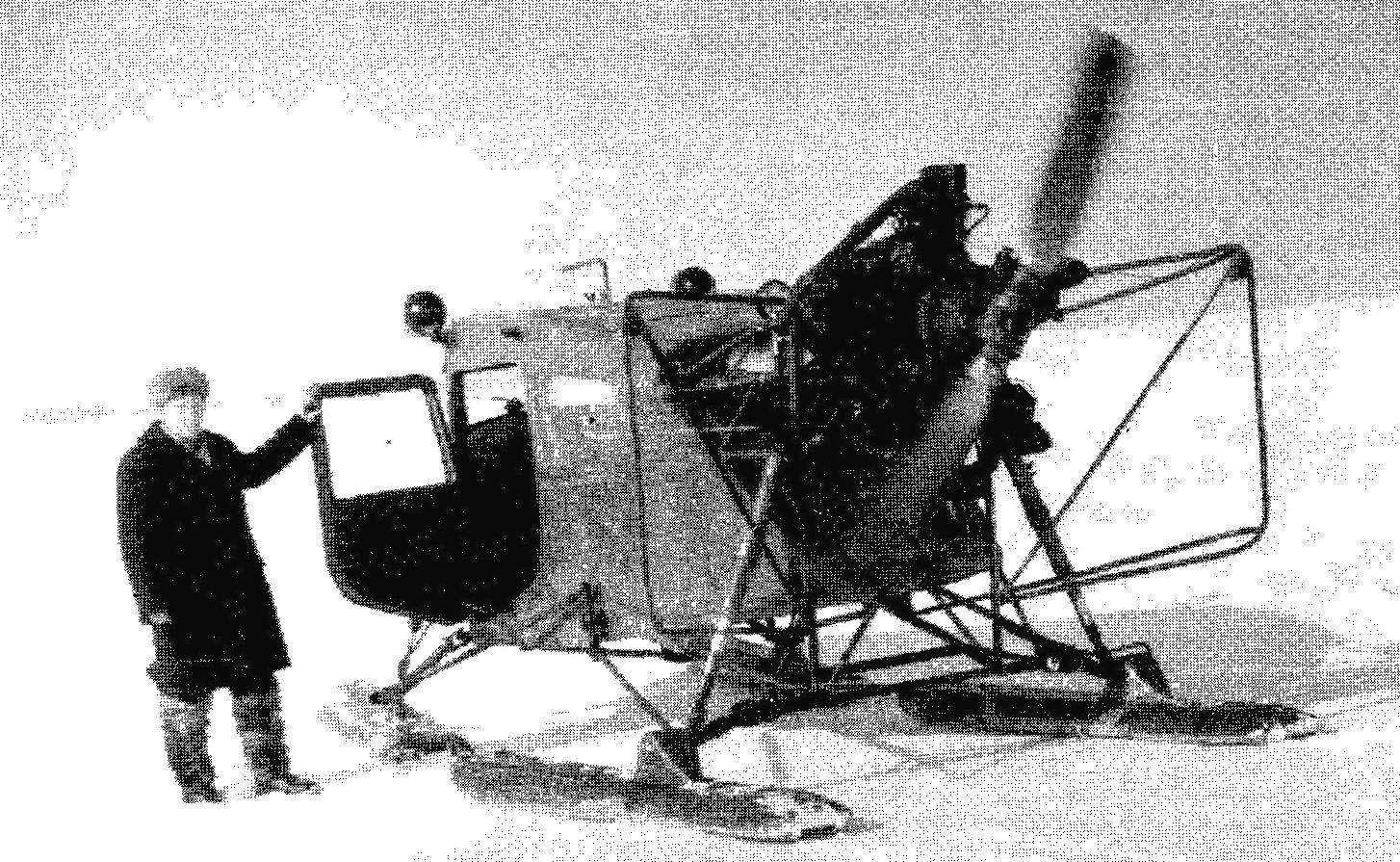 Snowmobile AK-5 engine M11-FR; cabin and skis from the Yak-12
