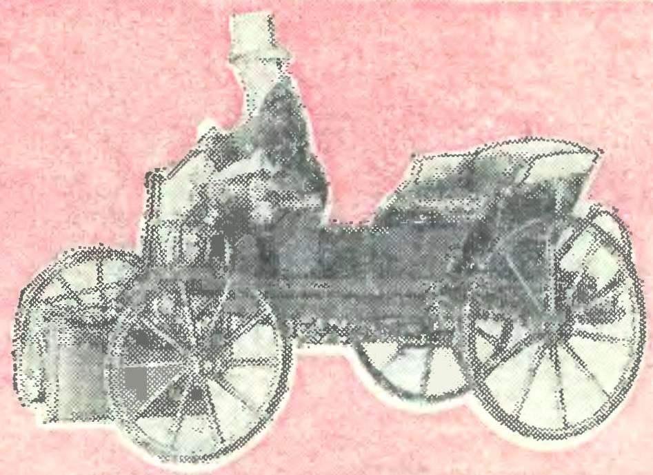 Паровой самоходный экипаж, построенный Йозефом Божеком в 1815 году.