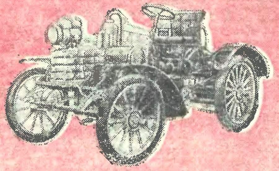 Первый чехословацкий гоночный автомобиль (1899 г.).