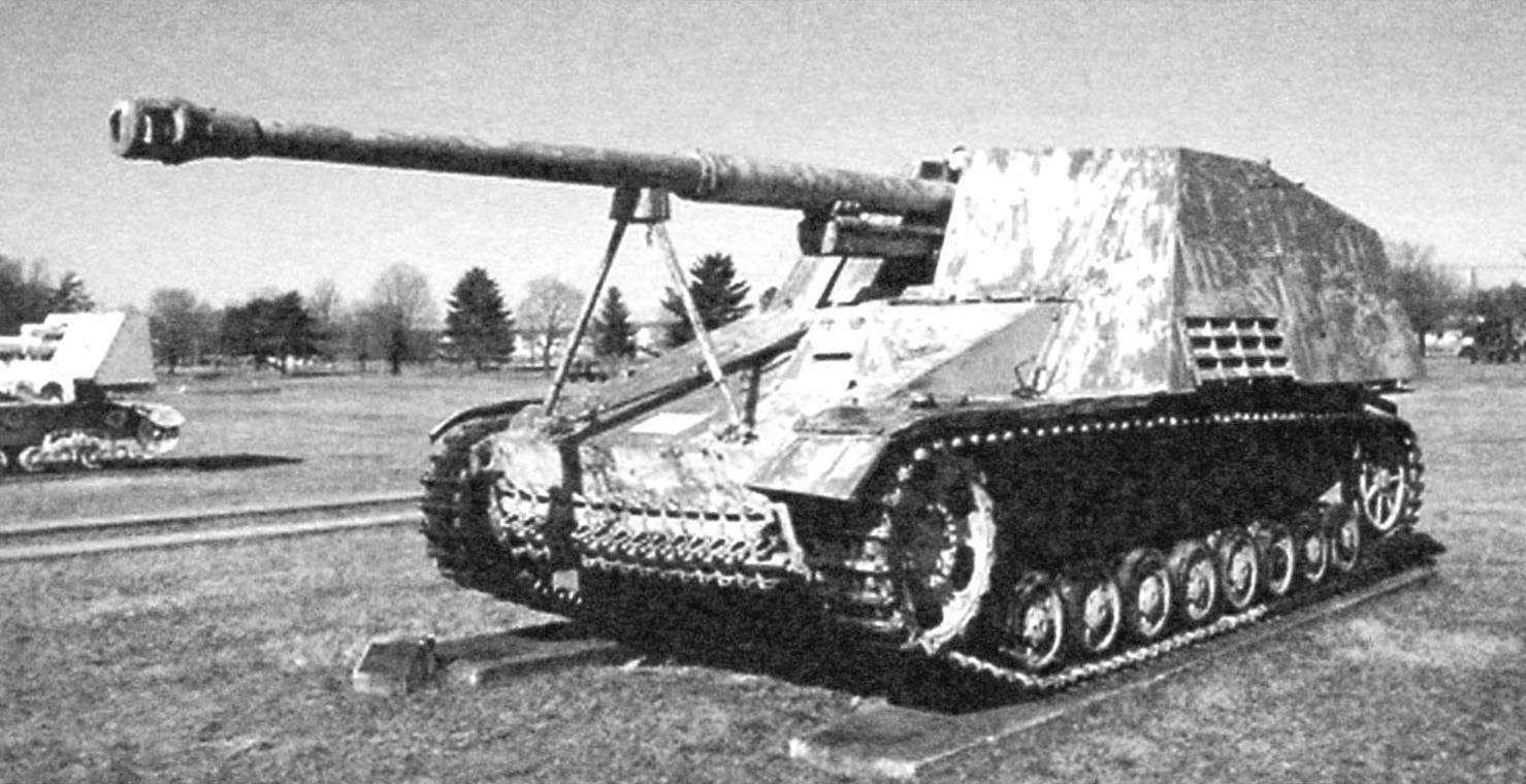 88-мм самоходная артиллерийская установка Pak 43 «Насхорн». Выпушено 494 единиц