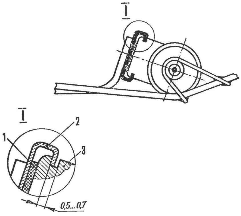 Рис. 2. Вариант крепления двигателя «Норма» к скобе