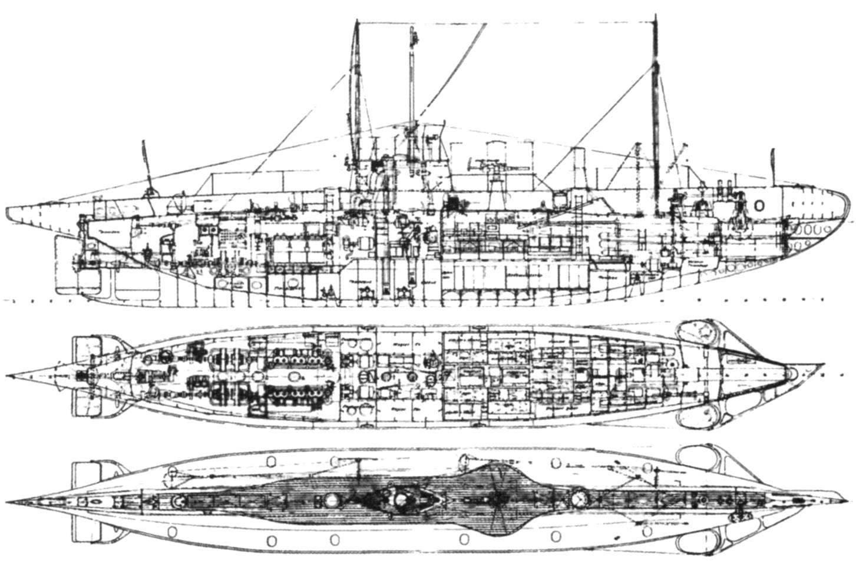 Подводная лодка «UB-18» (Тип UB II), Германия, 1915 г.
