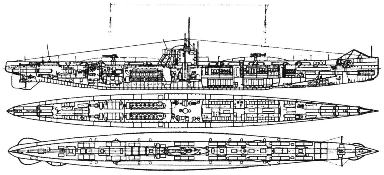 Подводная лодка «U-51» (Тип «U-19» - «военная серия»), Германия, 1915 г.