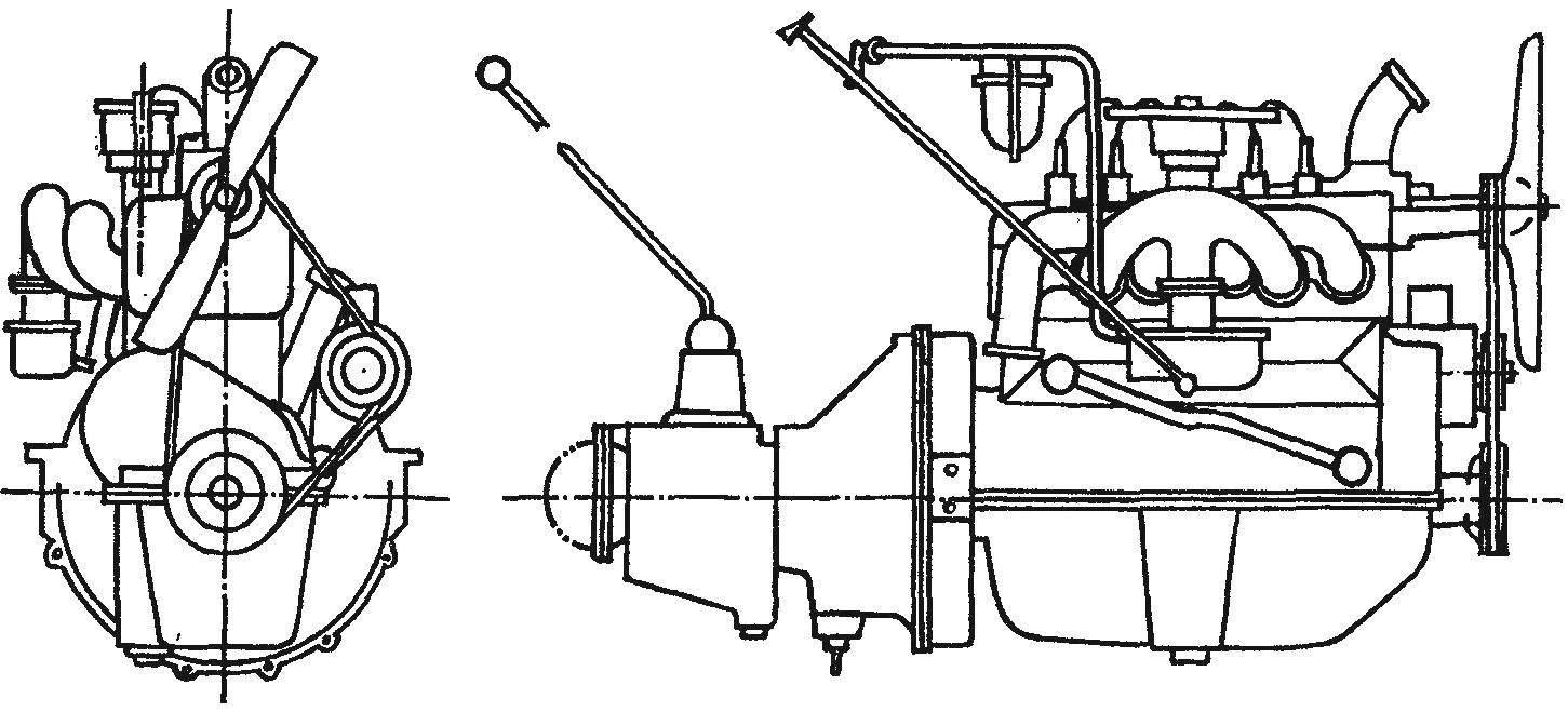 Двигатель автомобиля ГАЗ-А