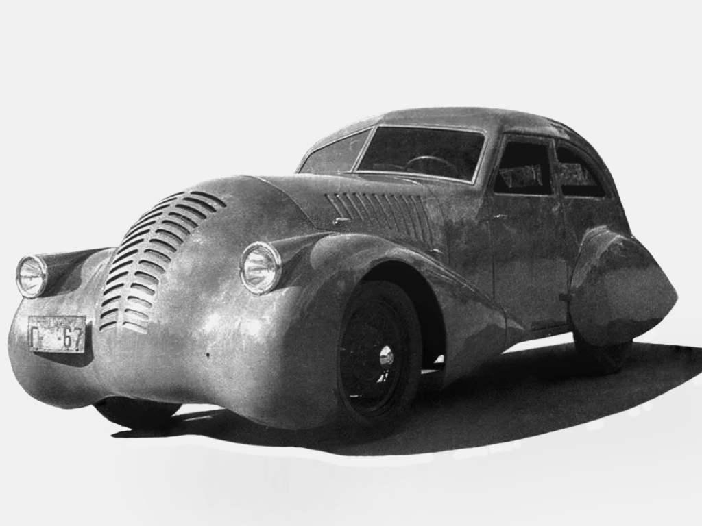 ГАЗ-А-Аэро с кузовом обтекаемой формы, разработанный А.Н.Никитиным