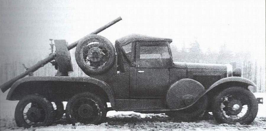 ГАЗ-ТК — трехосная модификация ГАЗ-А с пушкой Курчевского