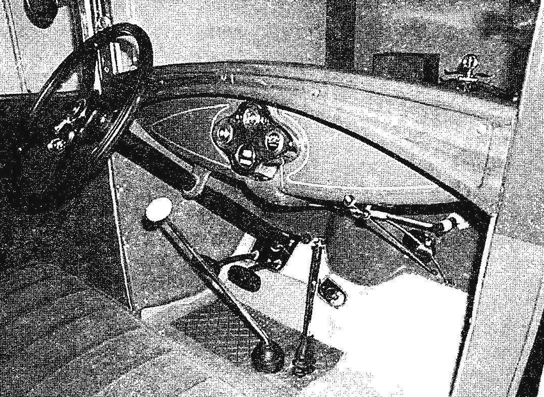 Передняя часть салона Ford-A Sedan