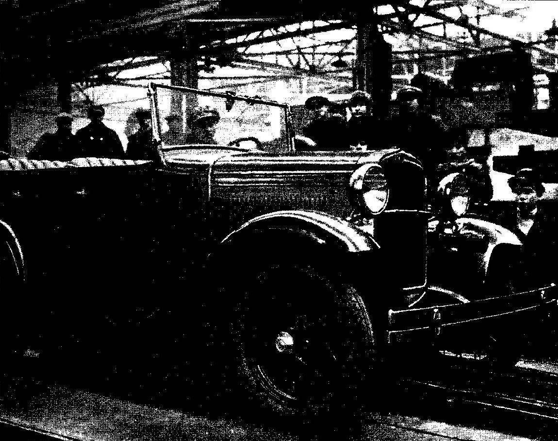Первый ГАЗ-А, собранный на Горьковском автозаводе 2 января 1932 года
