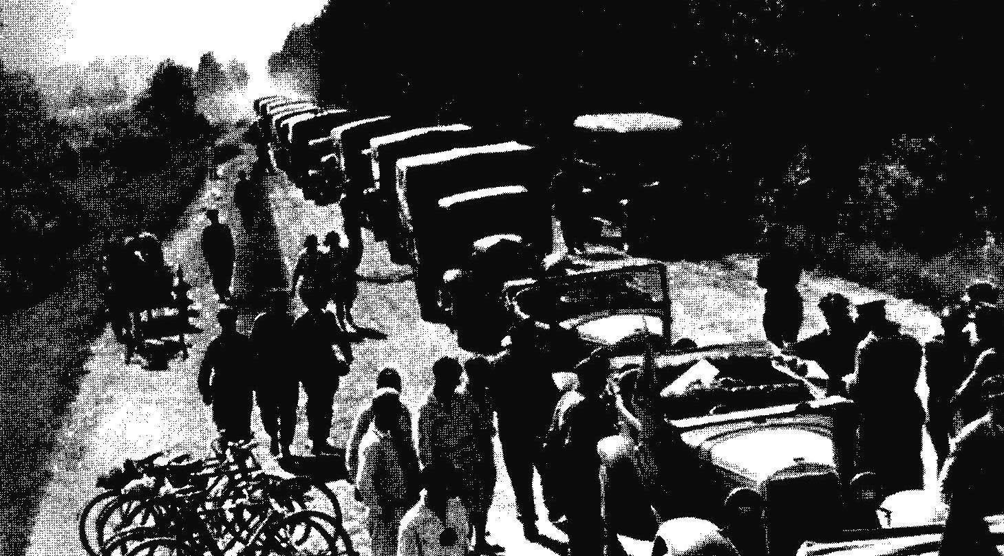 Колонна участников Каракумского автопробега. Возглавляют колонну автомобили ГАЗ-А