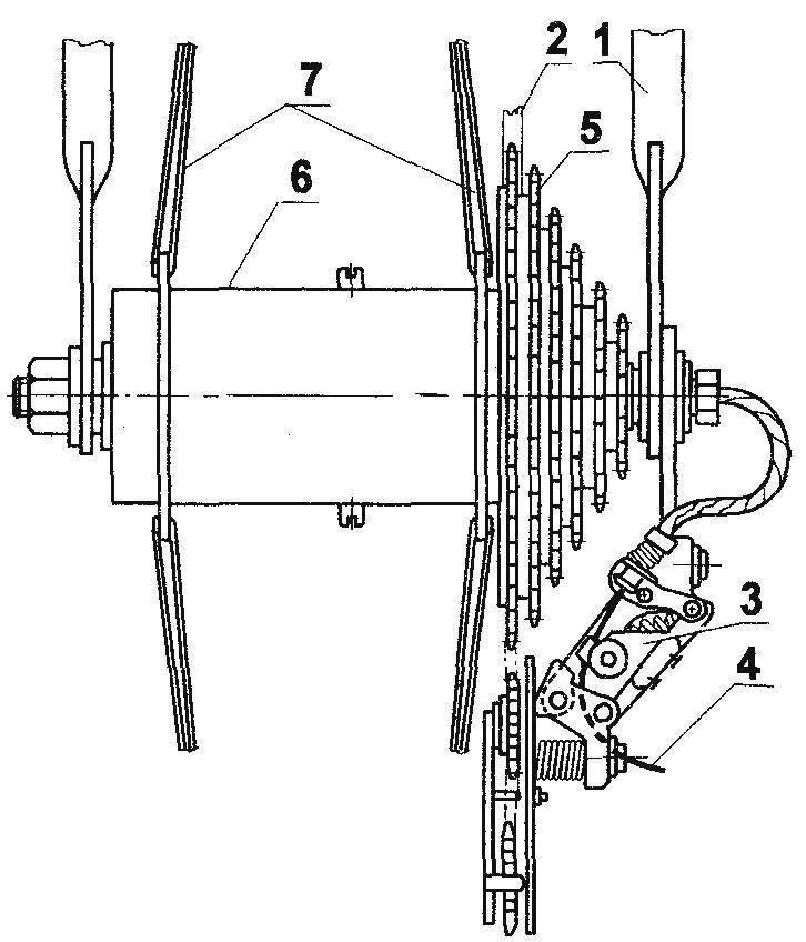 Рис. 1. Многоскоростная втулка автоматического переключения скоростей