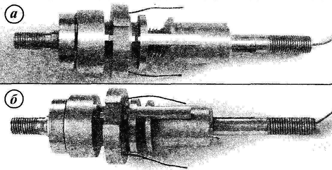 Звенья механизма автоматического переключения скоростей, смонтированные на оси заднего колеса