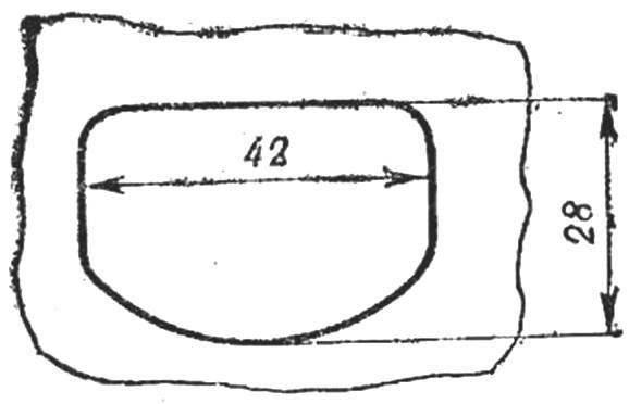 Рис. 9. Развертка модернизированного впускного окна.