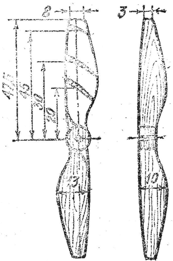 Fig. 4. The drawing of the propeller.