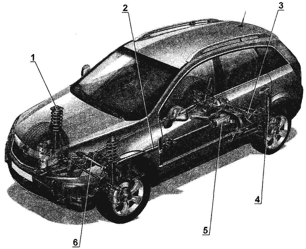 The chassis of the car Opel Antara