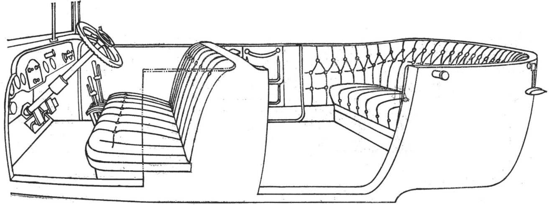 Рис. 3. Интерьер кузова (левые двери сняты).