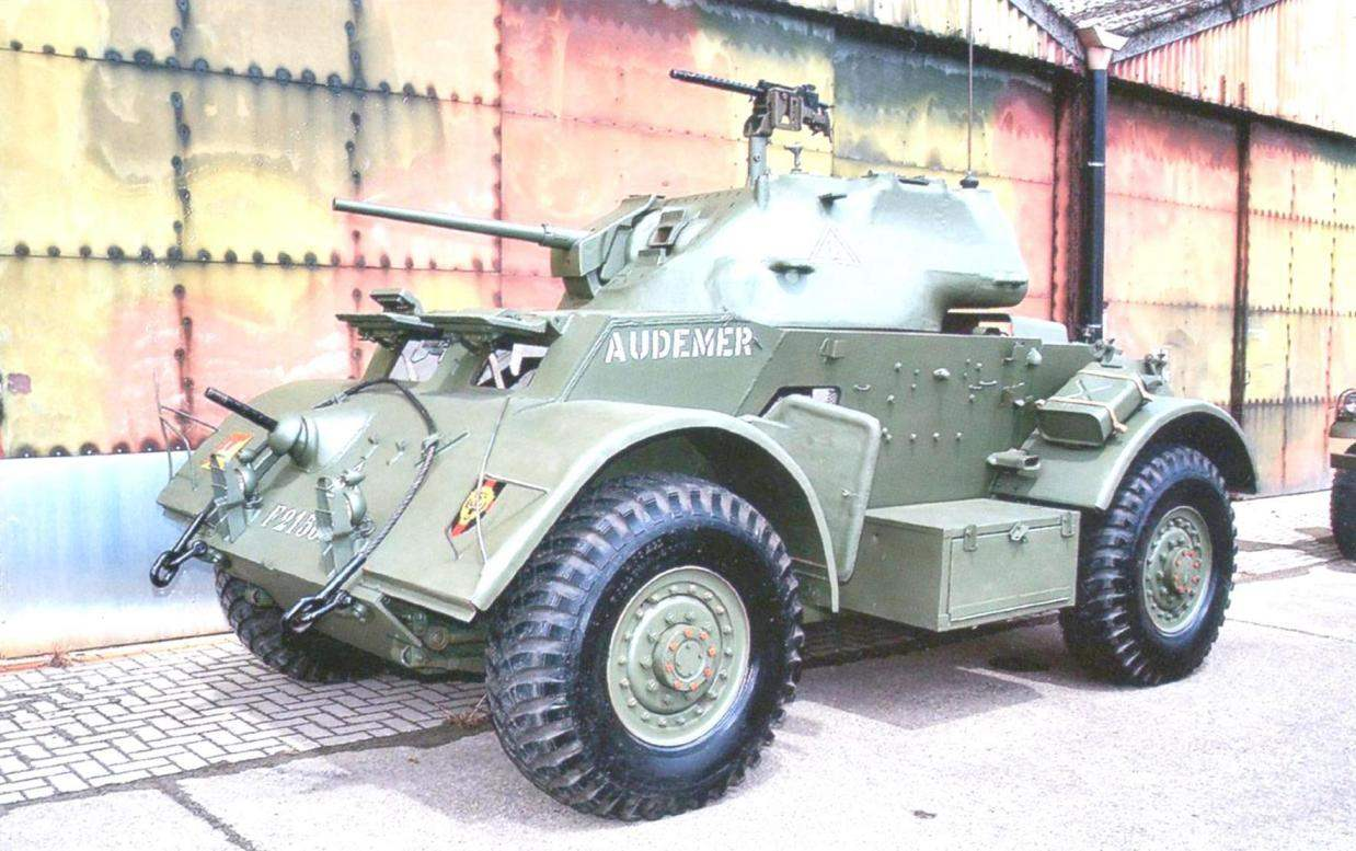 Armored Т17Е1 (M6 Staghound Mk I) at the international gathering of antique military vehicles