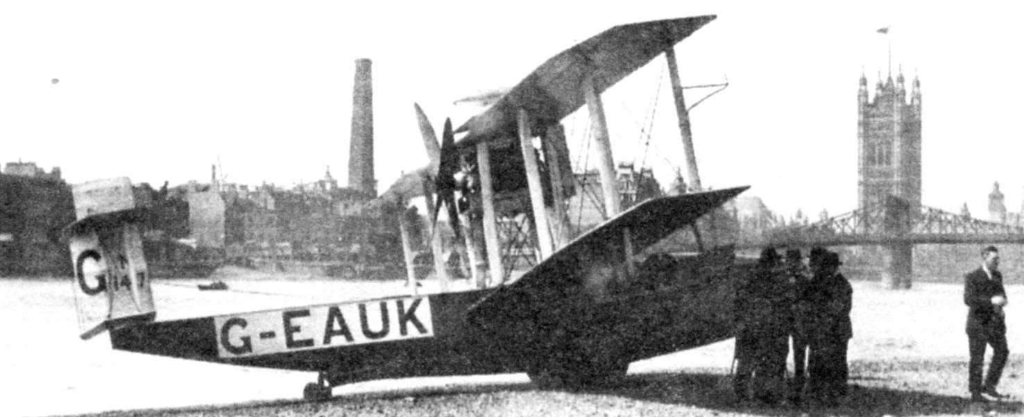 «Викинг» III на берегу Темзы, 1921 г.
