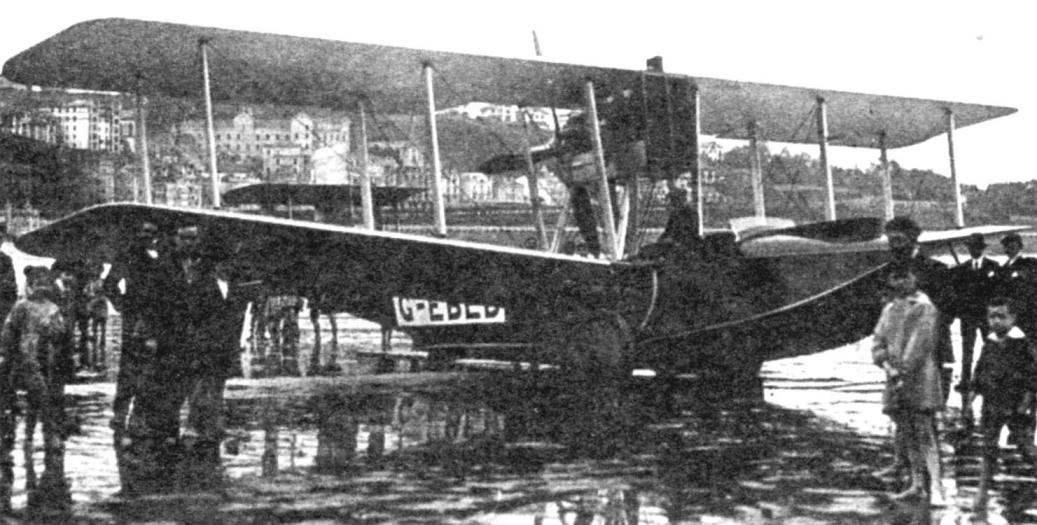 «Викинг» IV в Сан-Себастьяне на пути в Мадрид, 1922 г.