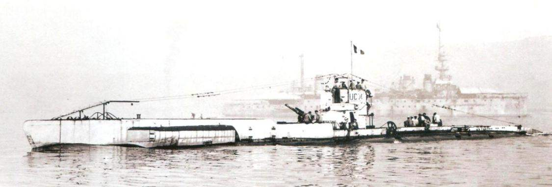 Underwater frontier IP-74 (is II) under the French flag