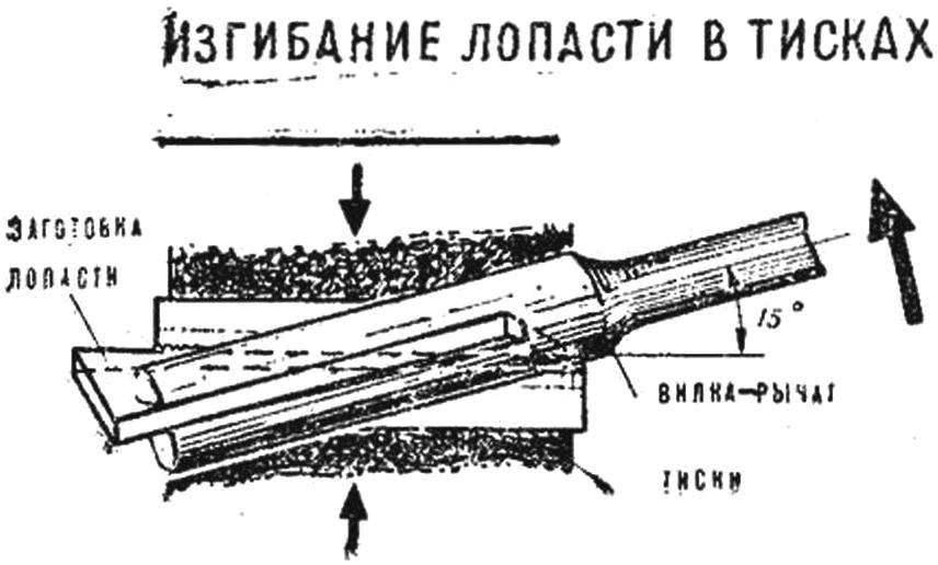 Рис. 5. Подготовка лопасти к сварке.