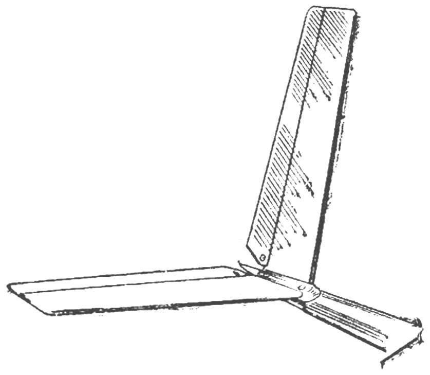 Fig. 1. V-tail model glider.