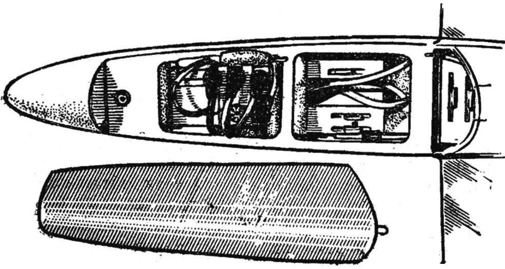 Рис. 5. Размещение аппаратуры ползункового типа на модели.