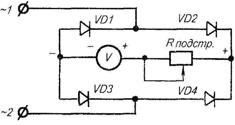 Схема показывающего прибора РВ