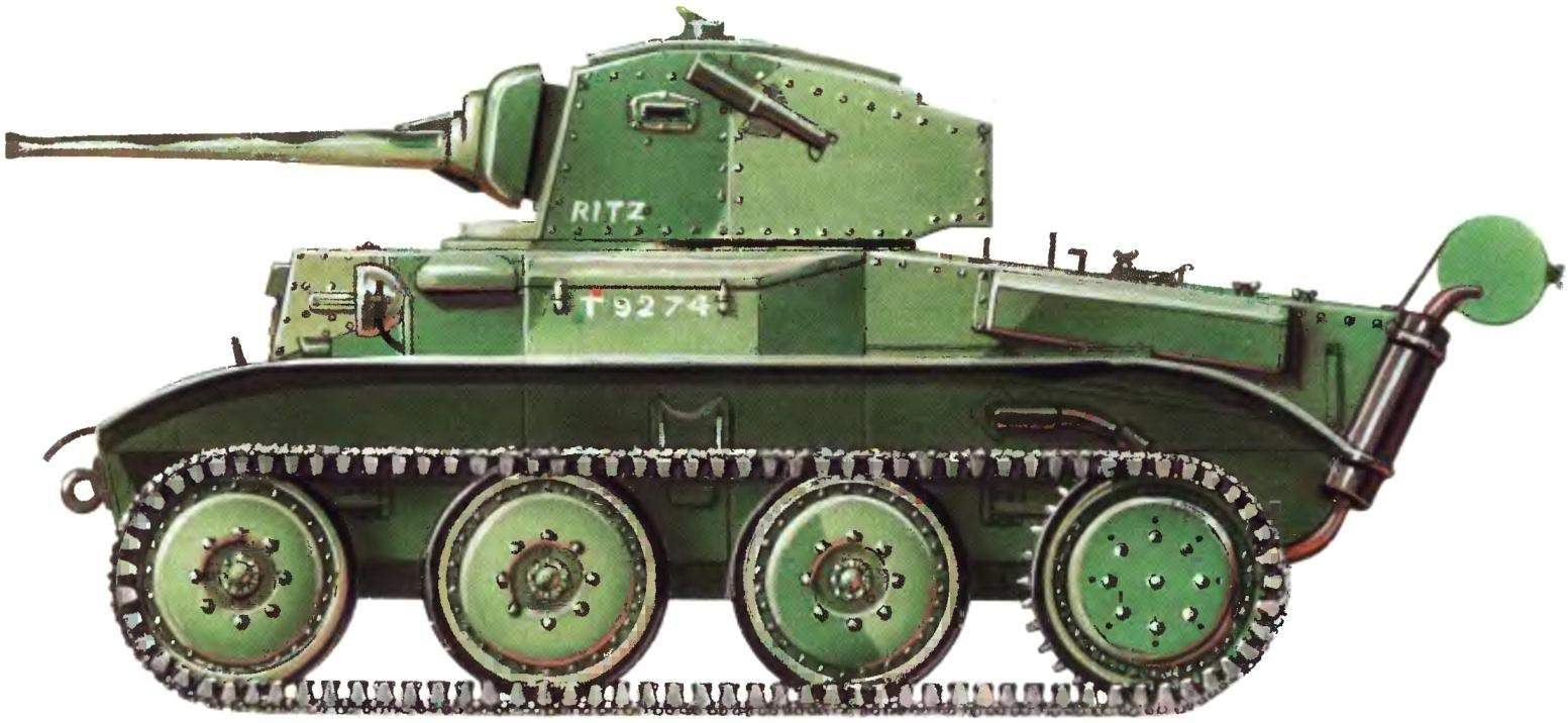 Легкий танк Mk VII «Тетрарх». 9-й уланский полк английской армии. 1942 г.