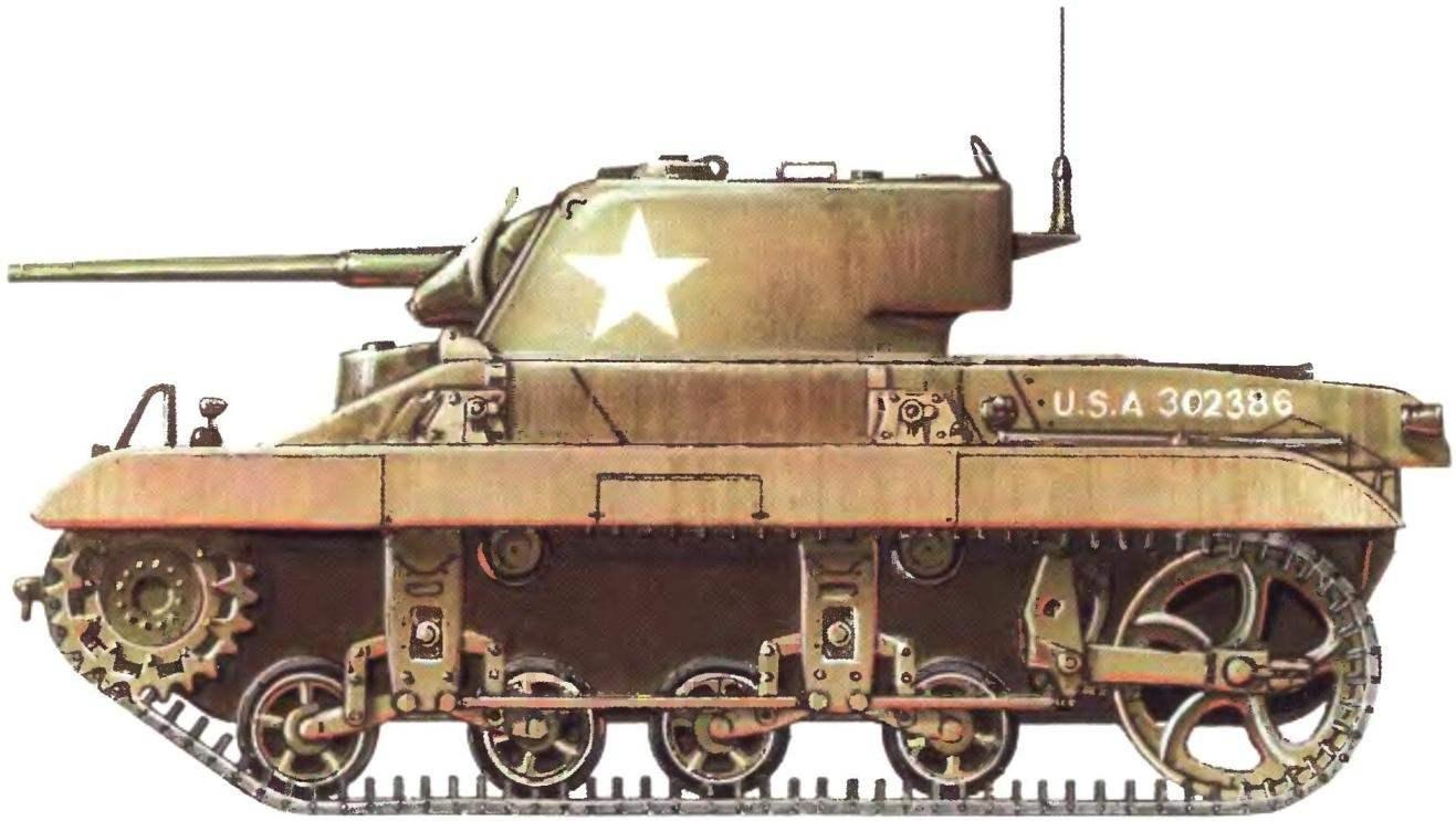 Легкий танк М22 «Локуст». 28-й воздушно-десантный танковый батальон армии США. Форт-Нокс, 1943 г. (читайте о нем в «М-К» № 8, 2007 г.)