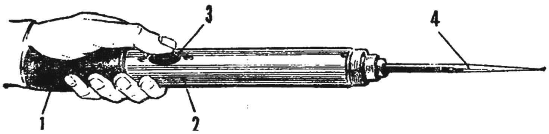 Рис. 6. Механическая «пчела» — вибратор для опыливания