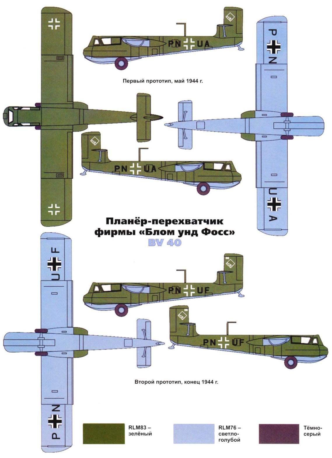 Планёр-перехватчик фирмы «Блом унд Фосс» BV 40