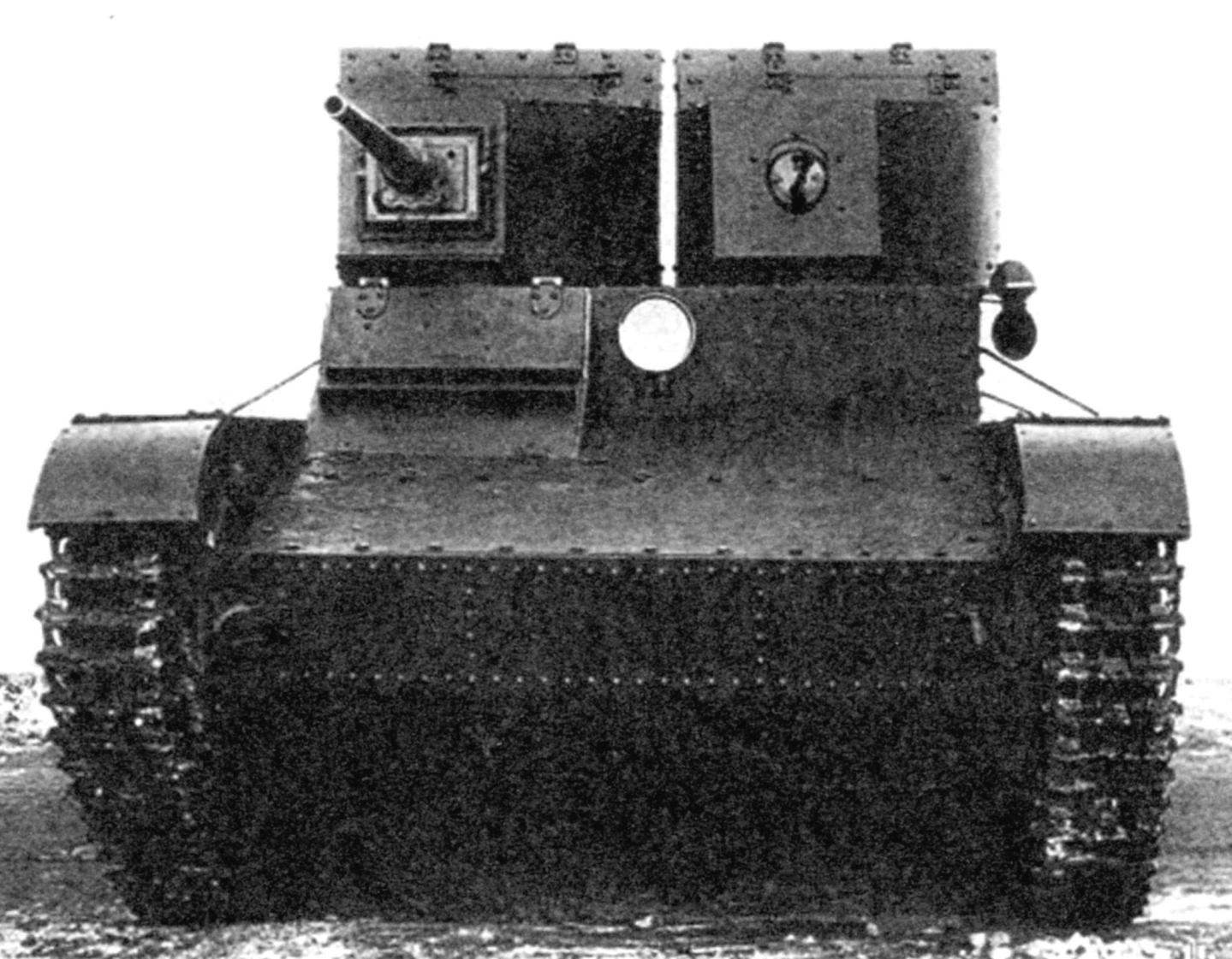 Cannon and machine-gun tank with a 37 mm cannon B-3 and 7.62-mm machine gun DT