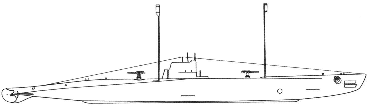 Подводная лодка «U-52», Австро-Венгрия, проект 1916 г.