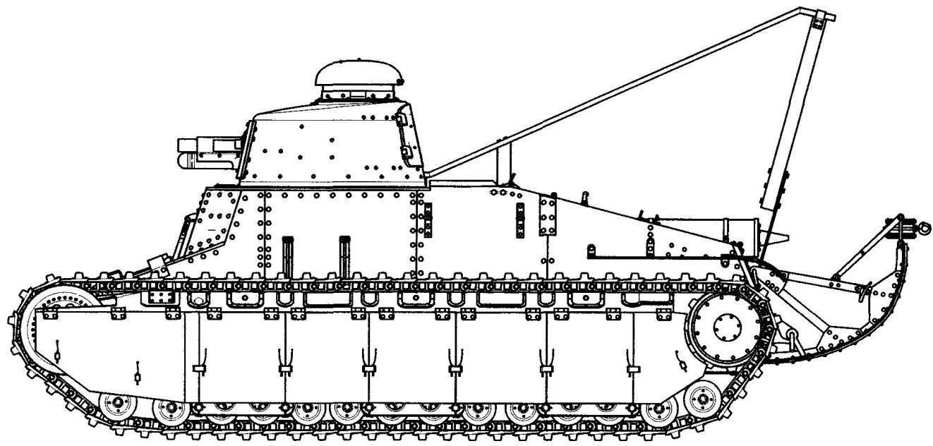 Танк D1 с башней танка FТ17