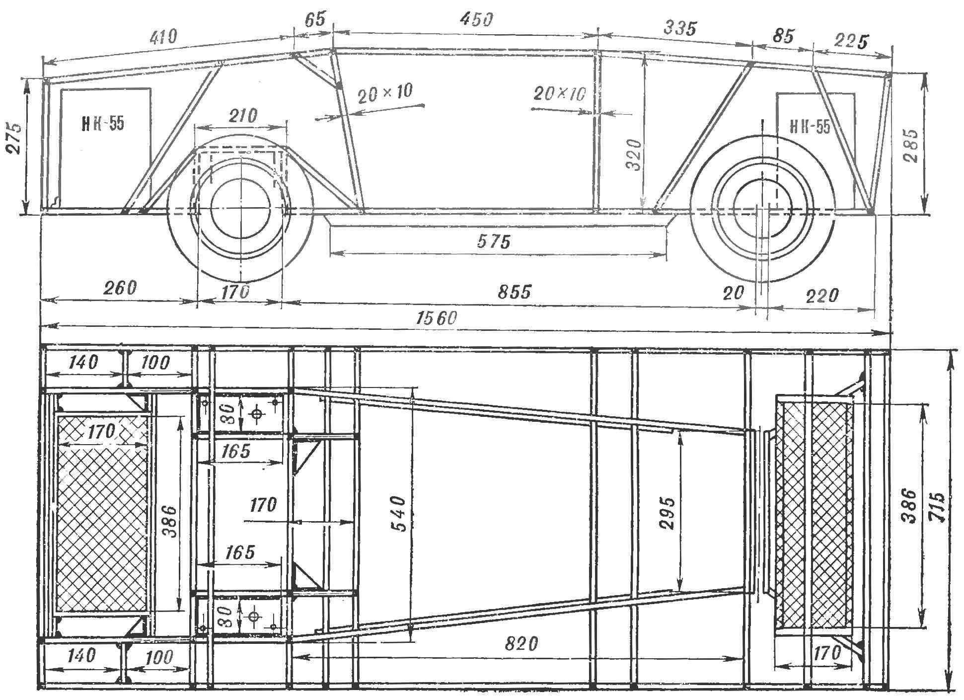 Рис. 2. Рама «Иволги» — пространственная сварная конструкция.