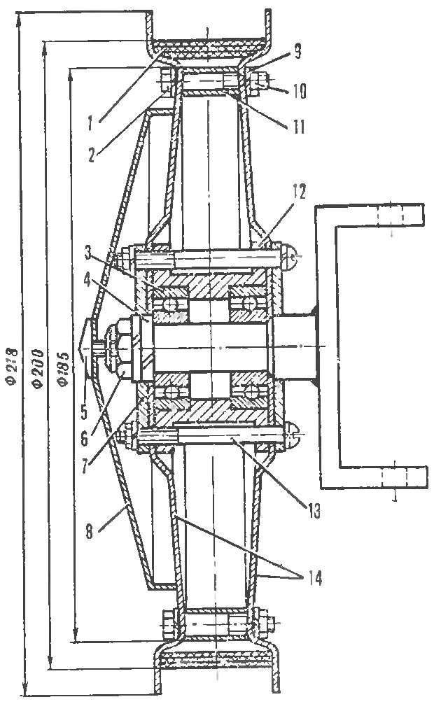 Рис. 8. Колесо электромобиля