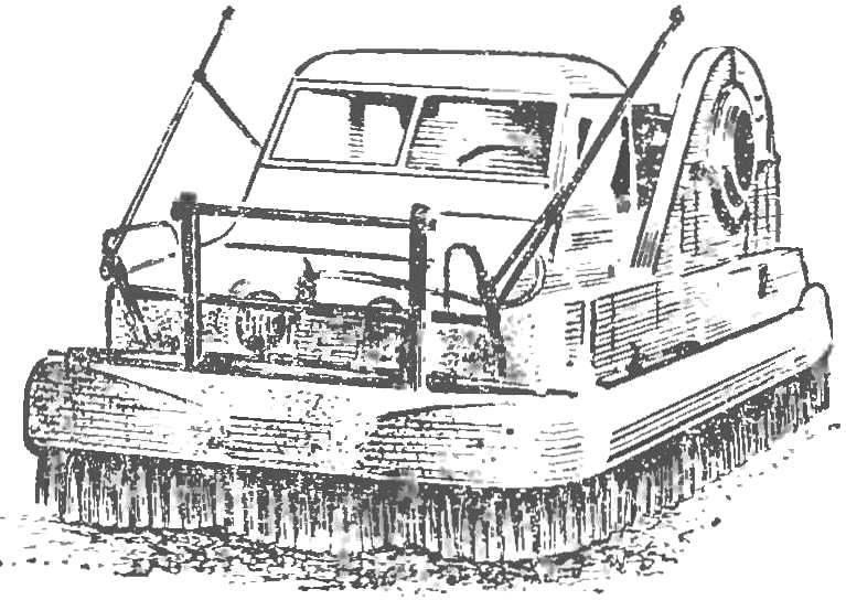 Рис. 3. Вездеход «Ховер-Ровер» с частичной разгрузкой колес с помощью воздушной подушки.