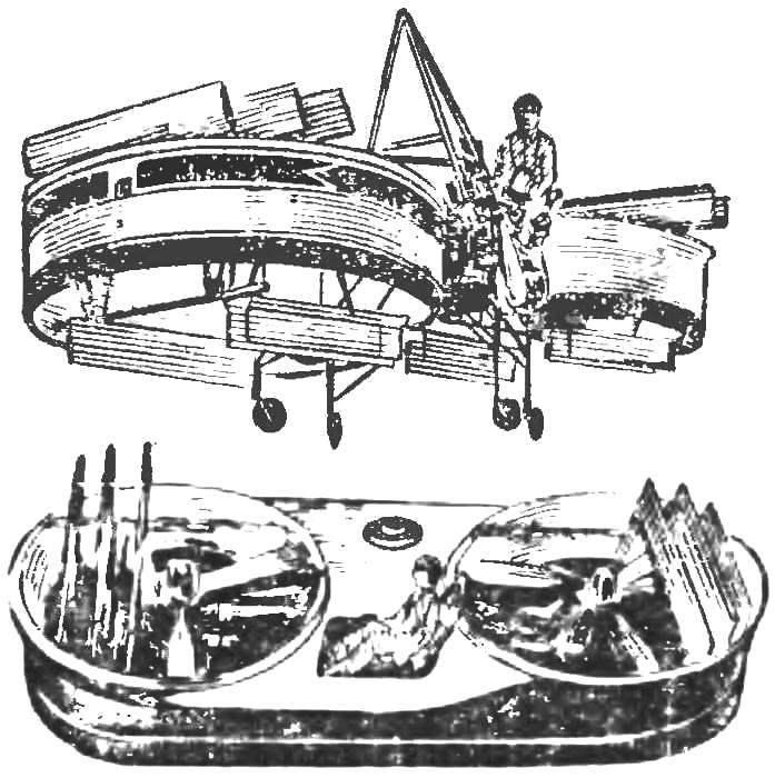 Рис. 5. Опытный летающий «джип» фирмы «Крайслер»