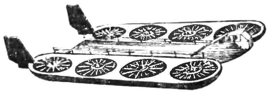 Рис. 8. Тяжелый летающий грузовик, разработанный в МАИ